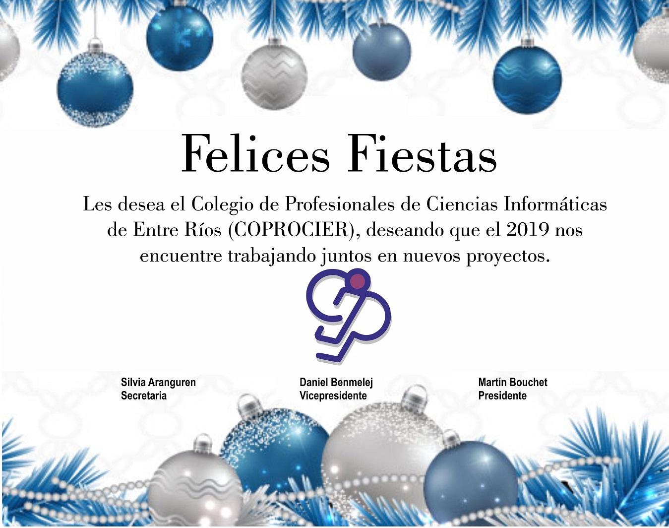 COPROCIER desea Felices Fiestas