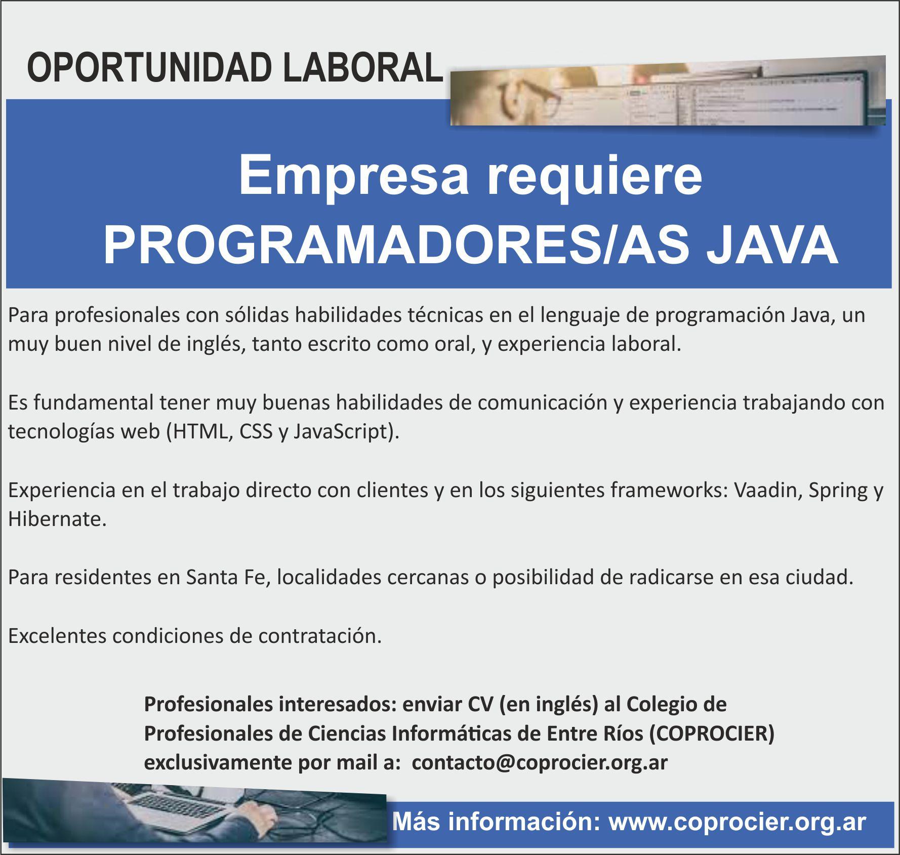 Oportunidad laboral para profesionales