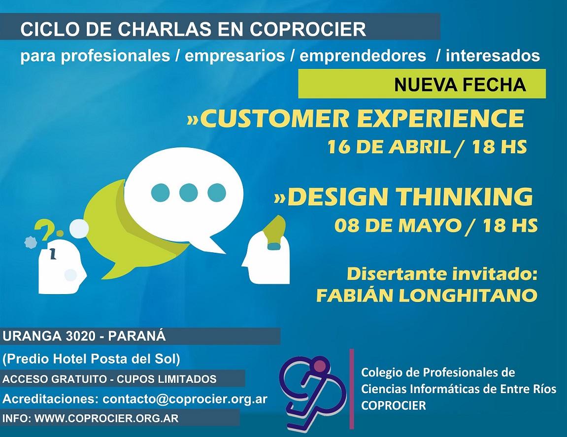 Ciclo de charlas en COPROCIER: Customer Experience y Design Thinking (Cambio de Fecha)