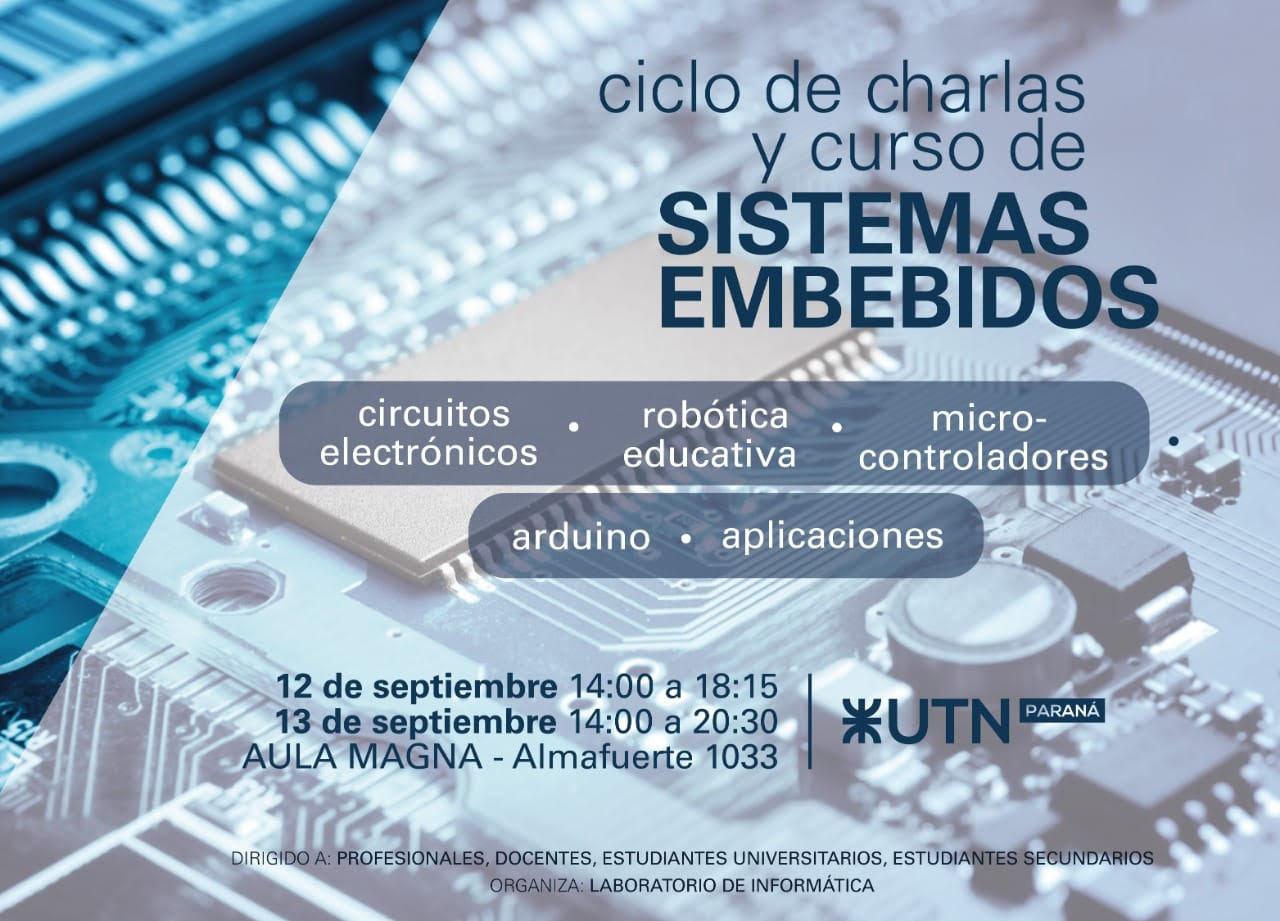 Curso de Sistemas Embebidos en UTN Paraná