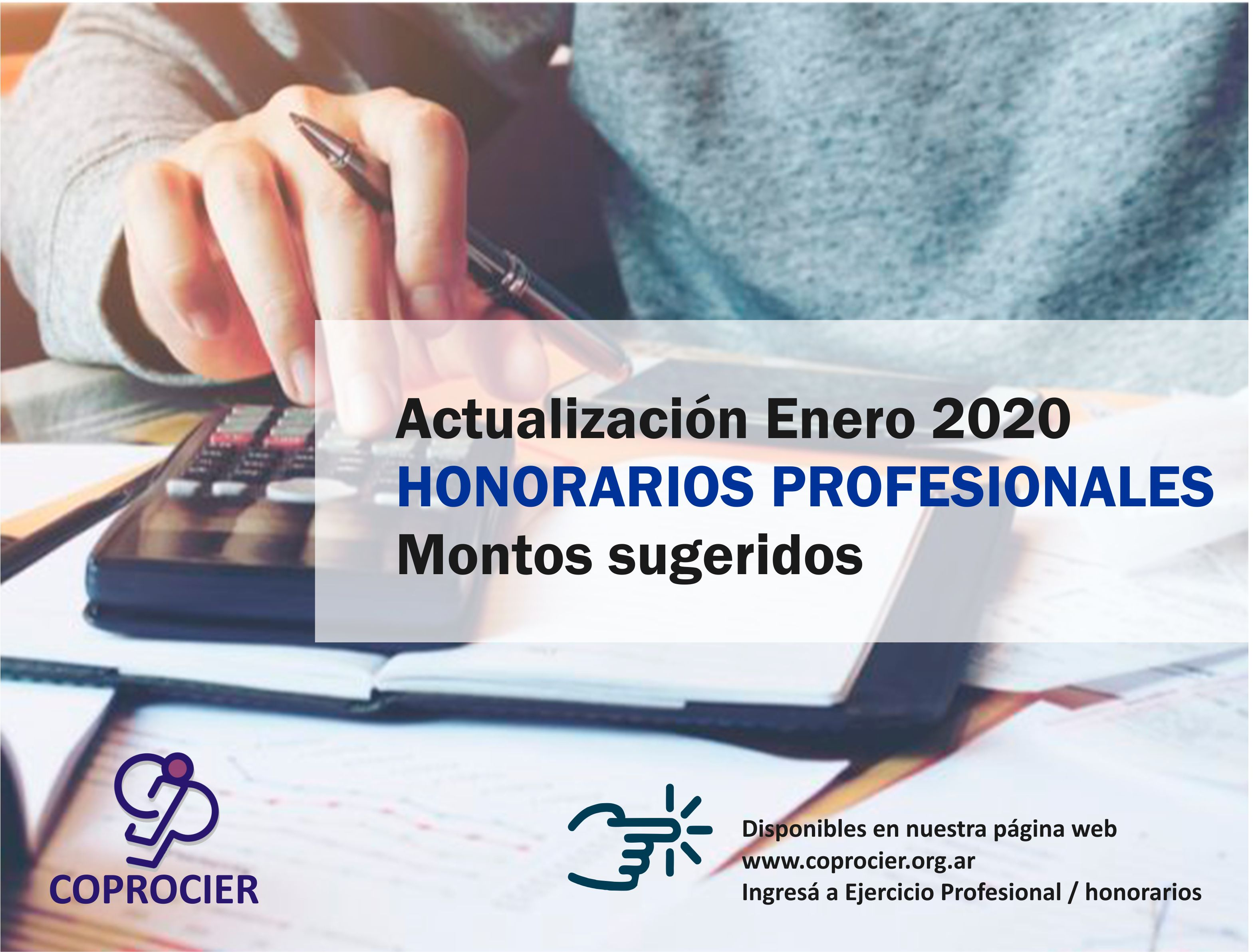 Honorarios profesionales sugeridos: actualización Enero 2020