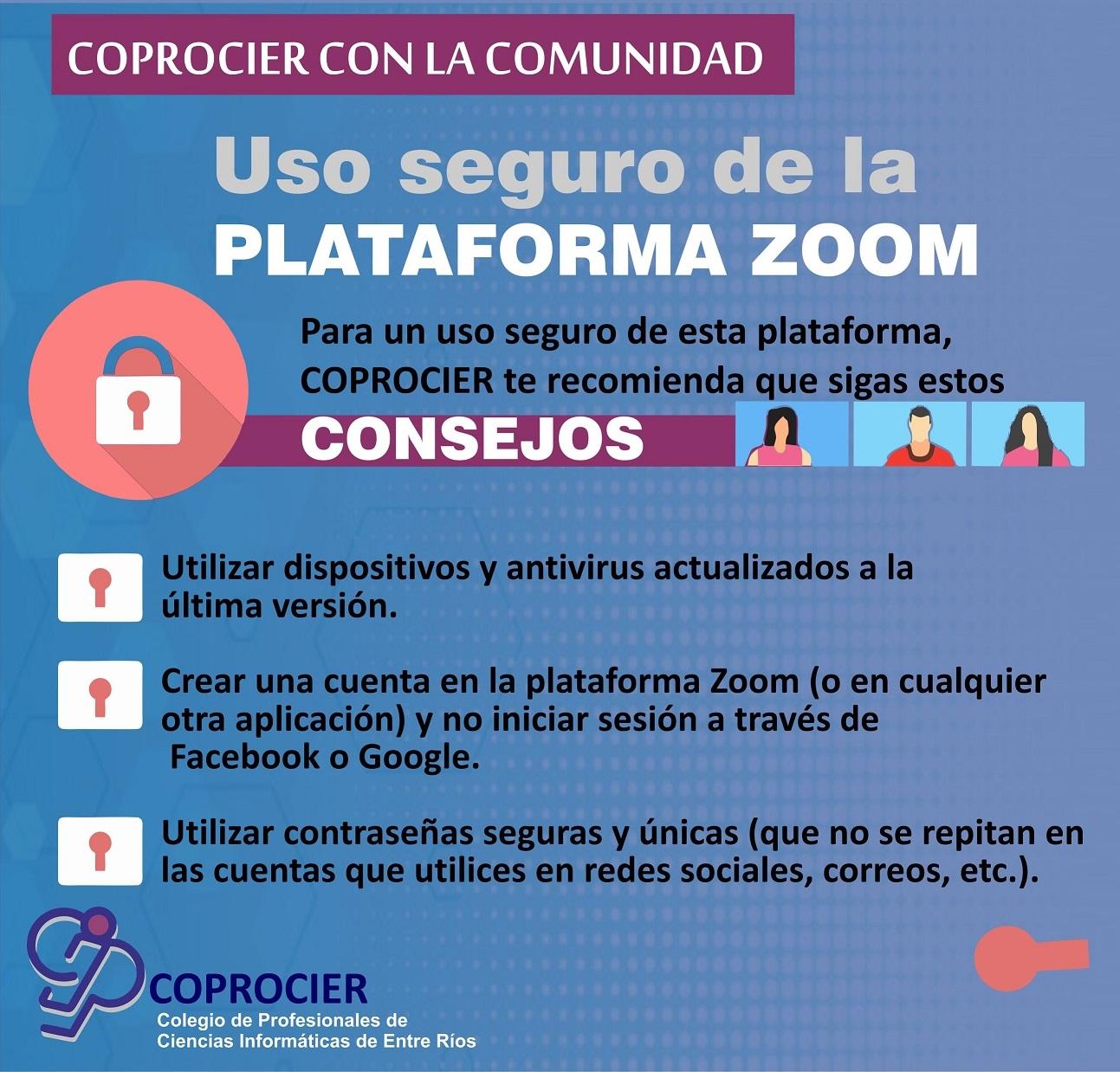 Hablemos de… uso seguro de la plataforma Zoom