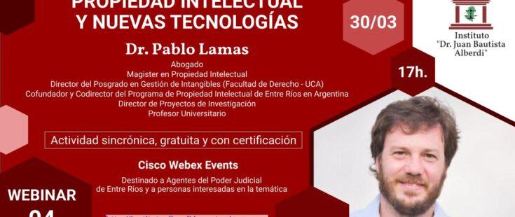 Webinar: Propiedad intelectual y nuevas tecnologías