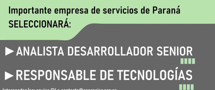 Oportunidades laborales: empresa de servicios seleccionará profesionales informáticos