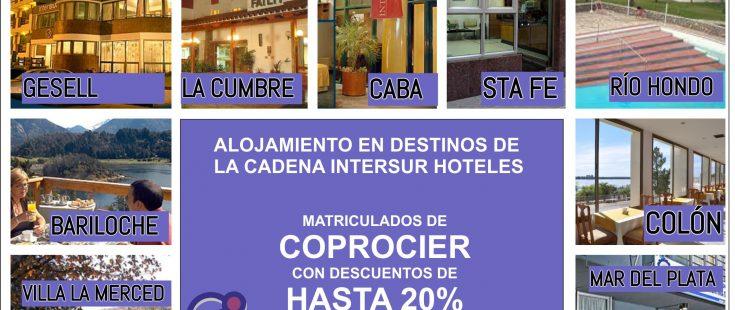 Convenio entre COPROCIER y la cadena Intersur Hoteles