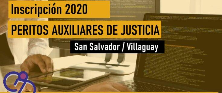 Peritos de la Justicia: convocatoria para San Salvador y Villaguay (2020)