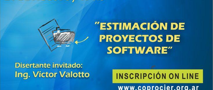 """Miércoles 21 de agosto: Charla sobre """"Estimación de Proyectos de Sotfware"""""""