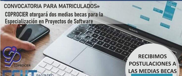 COPROCIER otorgará dos medias becas para la Especialización en Proyectos de Software de la FCyT