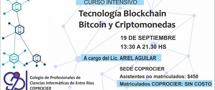 Curso intensivo sobre Tecnología Blockchain y Criptomonedas