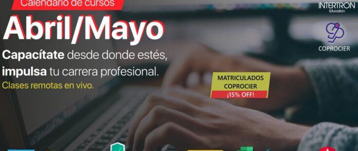 Disponible el calendario de cursos Intertron de Abril/Mayo