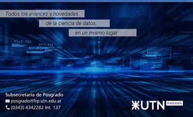 Jornadas Regionales de Ciencias de Datos, en UTN Paraná