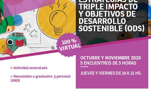 Curso de Posgrado: estrategias de triple impacto y Objetivos de Desarrollo Sostenible (ODS)