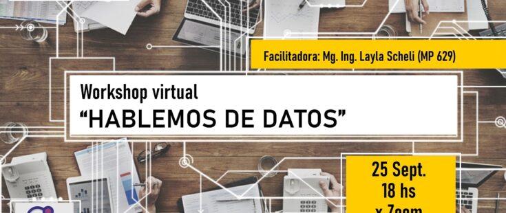 """WorkShop virtual: """"Hablemos de Datos"""""""